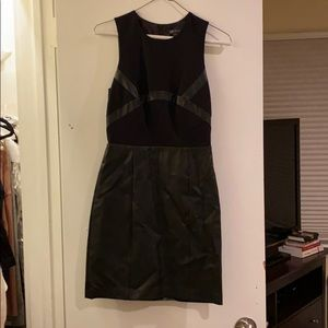 Armani Exchange dress with faux leather detailing